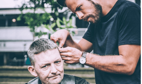 barbers are giving back